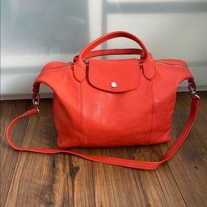 Authentic Longchamp Medium Leather Bag